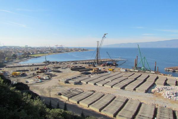 Gemlik Gübre Limanı İnşaatı